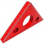 Aluminum Alloy Triangle Ruler 45 Degree Angle Ruler Carpentry Squares Precision Woodworking Tools DIY Woodworking Triangle Ruler Height Measuring Gauging Tool Red-Large - - B0833ZYTZS