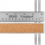 Breman Precision Stainless Steel 24 Inch Metal Rulers 2 Pack - Straight Edge Rulers with Inch and Metric Graduations for School Office Engineering Woodworking - Flexible with Non Slip Cork Base - - B07B9YXWRM