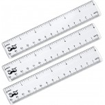Mr. Pen- Ruler 6 inch Ruler Pack of 3 Clear Ruler Plastic Ruler Drafting Tools Rulers for Kids Measuring Tools Ruler Set Ruler inches and Centimeters Transparent Ruler Small Ruler - - B07ZS3XRP4