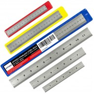 Offidea Machinist Ruler Set 6 8 12 inch - Rigid Stainless Steel Ruler with Inches and Centimeters - 1 64 1 32 mm and .5 mm - 6 Inch Ruler 12 Inch Ruler Metric Ruler Mm Ruler Metal Ruler Office Products B07VWKZLSH