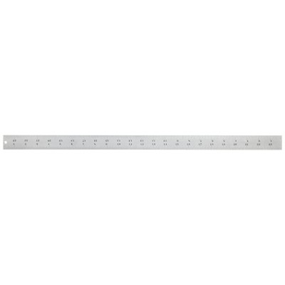 Starrett C604R-24 Spring Tempered Steel Rule With Inch Graduations 4R Style Graduations 24 Length 1-1 4 Width 3 64 Thickness Construction Rulers Office Products B0002FULMU