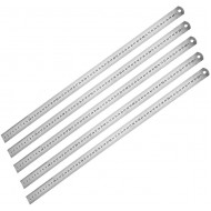 uxcell Straight Ruler 60cm 24 Inch Metric Stainless Steel Measuring Ruler Tool with Hanging Hole 5pcs - - B07ZKMT686
