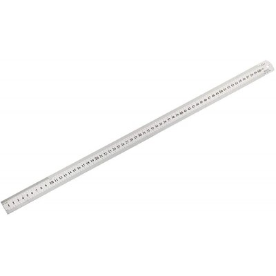 uxcell Straight Ruler 60cm 24 Inch Metric Stainless Steel Measuring Ruler Tools 0.9mm Thickness - - B07W4WP1BT