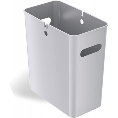 - iTouchless SlimGiant 4.2 Gallon 13.4 High Narrow Space Slim Trash Can with Handles 16 Liter Plastic Small Wastebasket Garbage Bin Storage Container for Home Office Bathroom Kitchen Silver - B08CJH2L4N