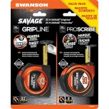 2 Pack Savage 25 Ft Gripline and 25 Ft Proscribe Tape Measure Value Pack - - B0746CDFPT