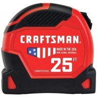 CRAFTSMAN Tape Measure PRO-11 25-Foot CMHT37525 - - B07QPWPF1J
