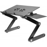 Foldable Laptop Stands Adjustable Laptop Bed Desk Portable Laptop Workstation Vented Notebook Stand Laptop Holder with 2 CPU Cooling Fans and Removable Mouse Pad for Bed Couch Sofa Office Office Products B087J1VHHC