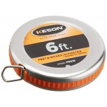 Keson PD618 Diameter Measuring Tape with Steel Blade and Case 1 4-Inch by 6-Foot Office Products B00X52NY0I