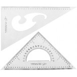 MariaP School Office 30 60 45 Degree Measure Triangle Rulers Protractor 2 Pieces a15091100ux0127 - - B07SSTJBNT