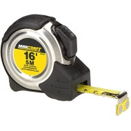 Maxcraft 60403 16-Foot by 3 4-Inch Auto Locking Tape Measure - Stainless Steel Metric Tape Measure - B003BXOJS2