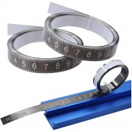 Metric Self-Adhesive Measuring Tape Stainless Steel Tape Measure 3M left to right - - B08FCB8DQ8