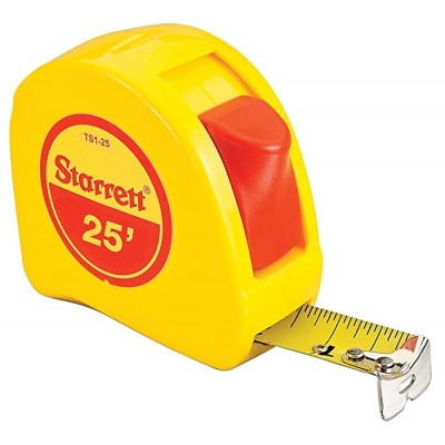 Starrett KTS1-25-N ABS Plastic Case Yellow Measuring Pocket Tape English Graduation Style 25' Length 1 Width 0.0625 Graduation Interval Office Products B00ELMRYDE