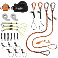 Tool Tethering Kit for Carpenter Includes Tool Lanyards and Attachments for Tape Measure and Power Tools Ergodyne Squids 3183 - - B07X92TGNW