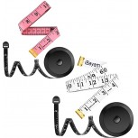White & Pink Soft Multipurpose measuring tape & 2 Pack Black Retractable Tape Measure Body Measuring Tape Set 60-Inch Tape Measure Body Measuring Tape Set Dual Sided - - B08CMMRZDG