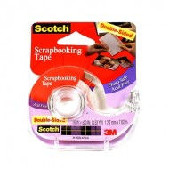 3M Double-Sided Scrapbooking Tape 1/2 In. X 8.33 Yd. Roll [Pack Of 3] 3PK-002  QU41417648