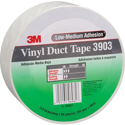 3M™ Vinyl Duct Tape; 2 in. x 50 Yd. White QU15755874