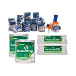 Duck 40 Piece Mailroom Bundle - HP620 Packing Tape 36/Pack + BladeSafe Tape Gun + 60\' Bubble Wrap 2 QU11865623