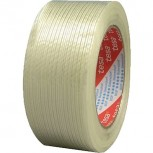 Tesa® 60 yd L Clear Glass Fiber Polypropylene Strapping Tape 4.40 mil T 3/4 in W QU25435468