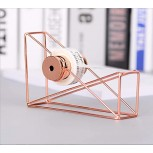 Desktop Tape Dispenser Metal Wire Rose Gold Color Tape Holder Cutter for Brighten up Your Desk and Office Office Products B07PNB7HCV