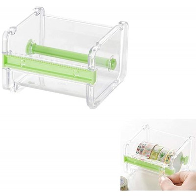 GTEFWZ 2 Pcs Tape Holder Knife Holder Office Supplies Desk Accessories Storage Box Storage Box Desktop Transparent Tape Holder Office Products B08HZ1Q7WG
