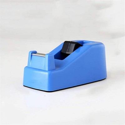 SSN Clear Tape Dispenser Plastic Non-Slip Sealed Packing Box Tape Holder Student Portable Tape Bracket Dispenser School Office Factory Color Blue Office Products B08DD5BNW2