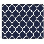 SSOIU Gaming Mouse Pad Custom Modern Navy Blue Quatrefoil Mouse Pad 9.5 X 7.9 inch 240MM X 200MM X3MM Office Products B07D5861T1
