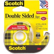 Scotch 137 Double-Sided Office Tape with Hand Dispenser 1 2 x 450 Inches Pack of 3 Office Products B072NY39JV