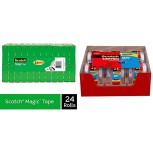 Scotch Brand Magic Tape Numerous Applications Cuts Cleanly 3 4 x 1000 Inches Boxed 24 Refill Rolls 810K24 & Tape Heavy Duty Shipping Packaging Tape 1.88 Inches x 800 Inches 1 Pack Office Products B08BPQJGRD