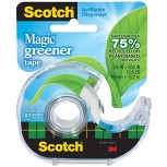 Scotch Magic Greener Tape with 2-Piece Dispenser 3 4 x 600 Inches 1 Roll 123 Clear Tapes Office Products B004Z4E7NS