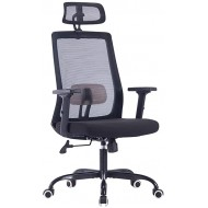 Sidanli High Back Mesh Office Chair with Adjustable Headrest Black Ergonomic Computer Chair with Lumbar Support. Office Products B07ZG2X58B