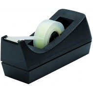 Staples 130674 Desktop Tape Dispenser Black Clear Tape Dispensers Office Products B002PJ6ZMQ