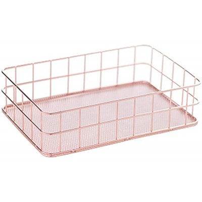 Daliuing Hollow Pencil Holder Office Desk Tidy Organiser Metal Mesh Desktop Storage Basket Kitchen Tableware Container Sundries Box Office Products B07S6LPJQ7