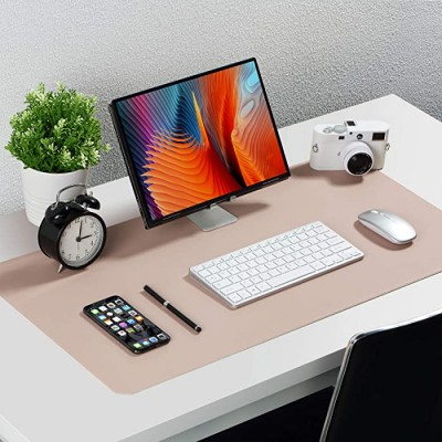 Knodel Dual-Sided Desk Mat Desk Pad Upgrade Sewing PU Leather Desk Blotter Protector Mouse Pad Writing Mat for Office and Home 31.5 x 15.7 Pink Office Products B07VNR2BQG
