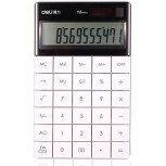 LI-GELISI NO Standard Function Desktop Office Calculator Solar and Battery Dual Powered White 1 6.5 x 4 x 0.4 inches Office Products B071L5QP2C