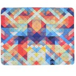 Mouse Pad Gaming AHGUEP Natural Anti-Slip Rubber Base 3mm Thick Mousepad Washable Textured Pattern Design for Office Desk Laptop Mouse Mat with Smooth Comfortable Touch Surface Colorful Triangle Office Products B08F1XPNCT