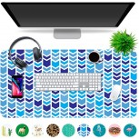 Multipurpose Office Desk Pad and Computer Desk Mat - Waterproof Office Desk Mat and Desk Blotter Pad - Home Office Accessories Large 35.5 x 17.5 Chevron Office Products B07WQRH46S