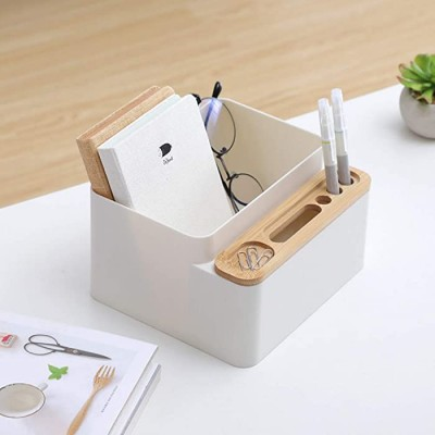 Poeland Desktop Storage Organizer Box Pencil Card Holder for Office Supplies Vanity Table Home Office Products B083LWPQWG
