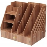 Supply Organizers Desk Organiser Multi-Functional Drawer Office File Rack Desktop Wooden Bookshelf Storage Storage Box with Drawer Magazine Book Office and School Color Natural Size 32.5X23.5X Office Products B08KFY7TF7
