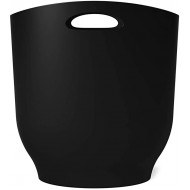 Umbra Harlo 2.4 Gallon Black Sleek & Stylish Bathroom Trash Can Small Garbage Bin Wastebasket for Narrow Spaces at Home or Office 2-1 2 Gallon Capacity Office Products B07TBPM9G9