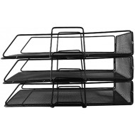 3-Tier Filing Trays File Holder Stand Organizer for Magazine Letter Paper Document Home Office Desk Document Tray Office Products B07Y7RCKDN