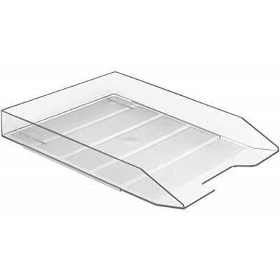 Acrimet Stackable Front Load Letter Size Tray Plastic Desktop File Organizer Clear Crystal Color 1 Unit Office Products B011OJCEDQ