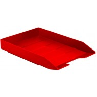 Acrimet Stackable Front Load Letter Size Tray Plastic Desktop File Organizer Solid Red Color 1 Unit Office Products B01MTA1FVN