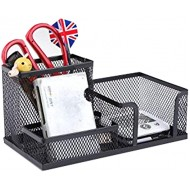 Black Mesh Desk Organizer Office Supplies Combination Pen Holder Card Case Iron Organizer Storage Box Office Products B087GBSH4R