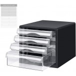 Drawer File Cabinet Desk Organizer Home Office Desktop Storage Box Filing Stacking Assemble Container Folder Holder Organization for Paper Document Magazine Paperwork Office Products B088T1Y8MN