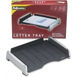 Fellowes 8031701 Office Suites Side Load Letter Tray Plastic Black Silver Office Products B016R7HQVU