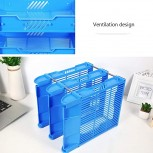 Jinxin-Office Products Desk Organizers Stackable File Tray - 3 Tier Stackable Letter Trays - File Holder Organizer Color Blue Office Products B07TZ8DG8G