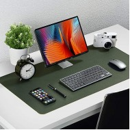 Knodel Dual-Sided Desk Mat Desk Pad Upgrade Sewing PU Leather Desk Blotter Protector Mouse Pad Writing Mat for Office and Home 31.5 x 15.7 Dark Green Office Products B0892YHVVN