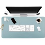 Office Desk Pad Mouse Pad 35.4 x 17 PU Leather Desk Mat Blotters Protecter with Comfortable Writing Surface Light Blue Office Products B08737VTFH