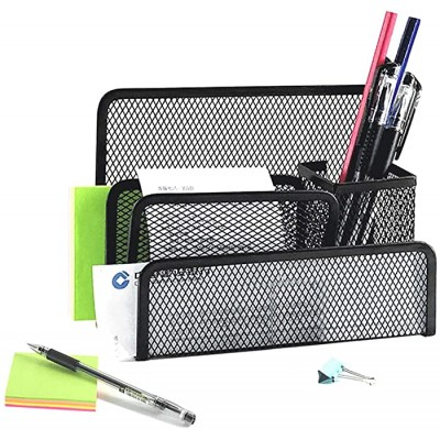Practical Letter Sorter Tray Metal Mesh Desk Mail File Organizer Document Filing Storage Box Pen Pencil Holder for Home School Office Office Products B087J9F9WV