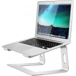 Soundance Laptop Stand Aluminum Computer Riser Ergonomic Laptops Elevator for Desk Metal Holder Compatible with 10 to 15.6 Inches Notebook Computer Silver Office Products B07D74DT3B